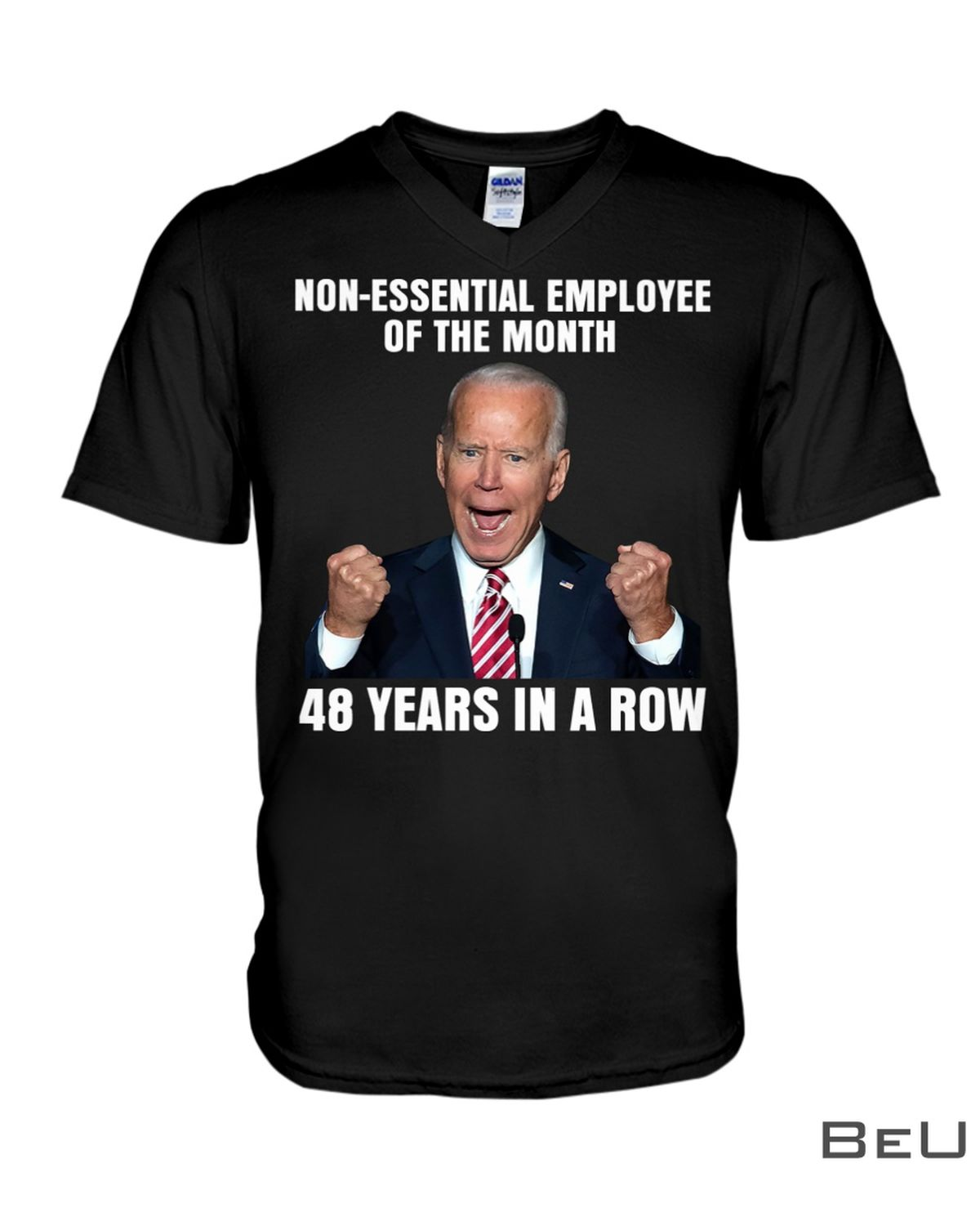 Non-Essential Employee Of The Month 48 Years In A Row Shirt x