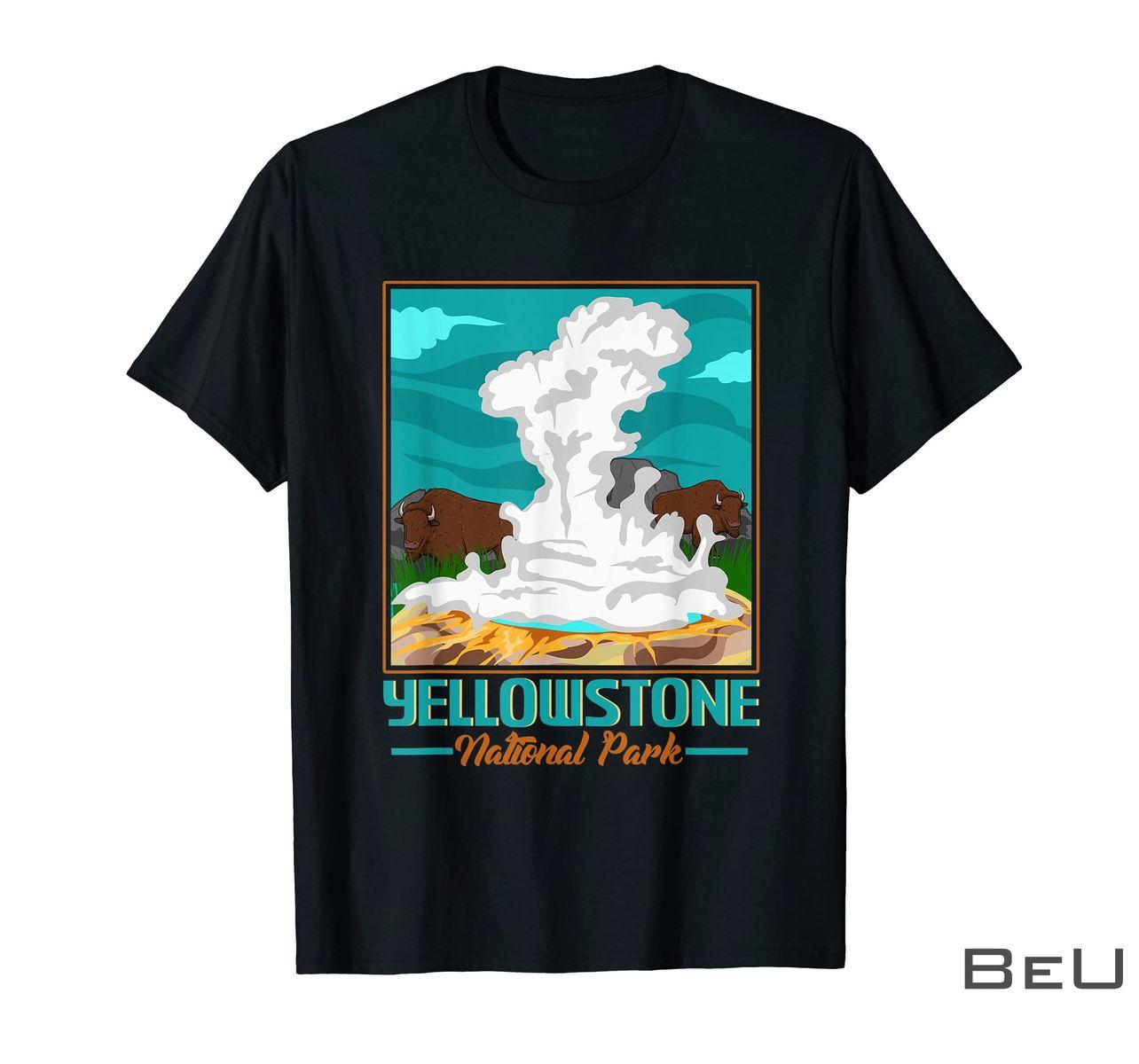 Retro National Park Shirt Vintage Yellowstone National Shirt
