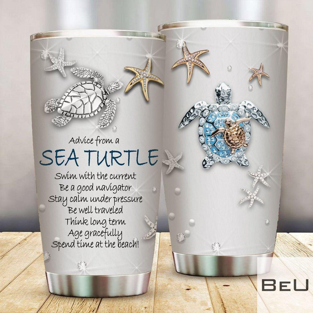 Sea Turtle TSea Turtle Treasures Stainless Steel Tumblerreasures Stainless Steel Tumbler