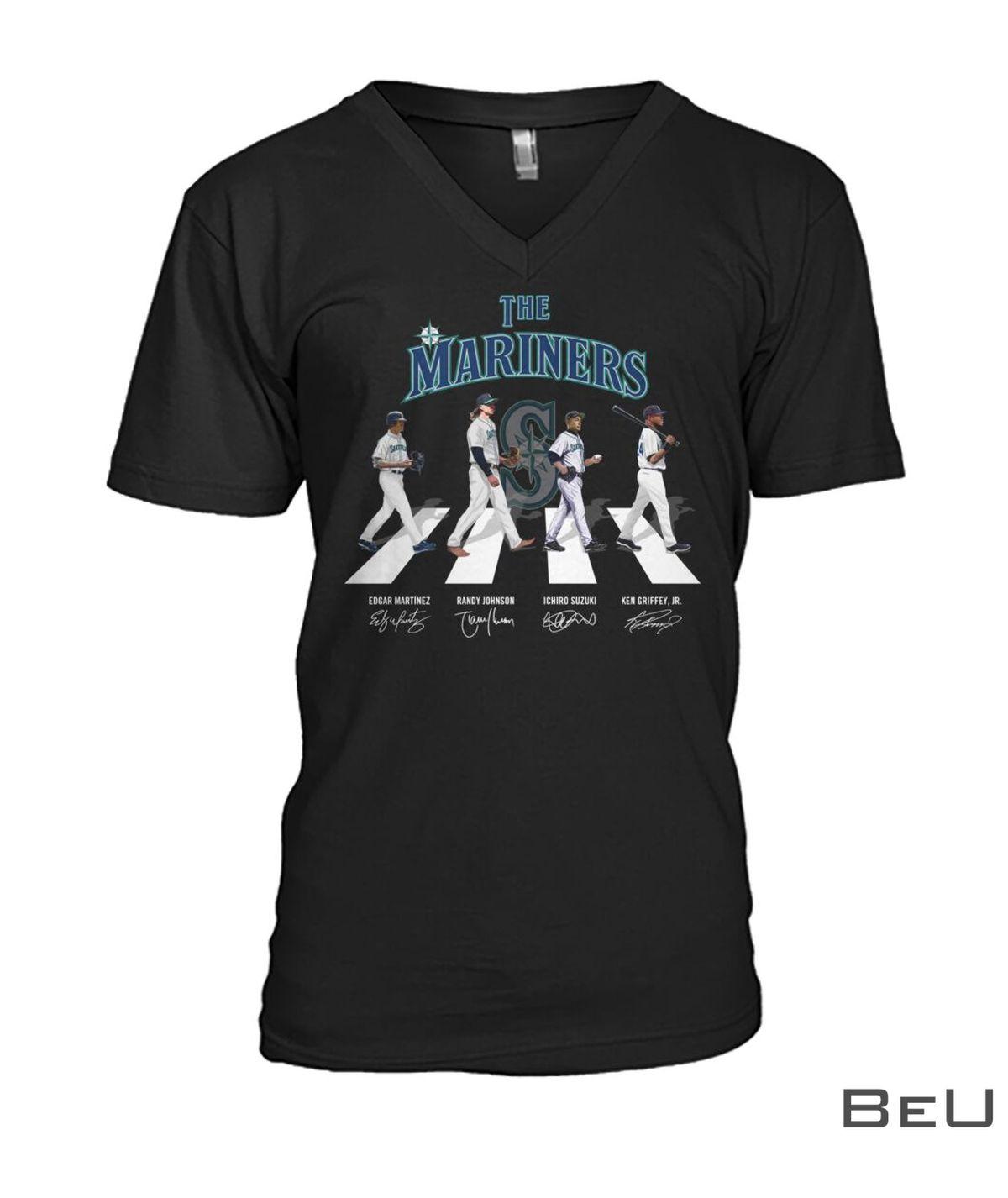The Mariners Edgar Martinez Randy Johnson Ichiro Suzuki Ken Griffey Jr Shirtc