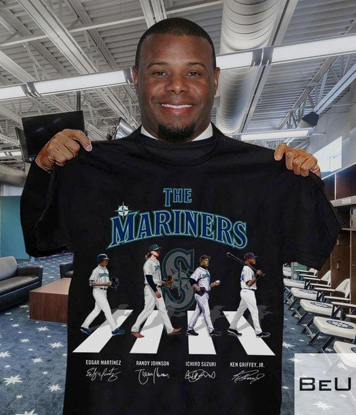 The Mariners Edgar Martinez Randy Johnson Ichiro Suzuki Ken Griffey Jr Shirtv