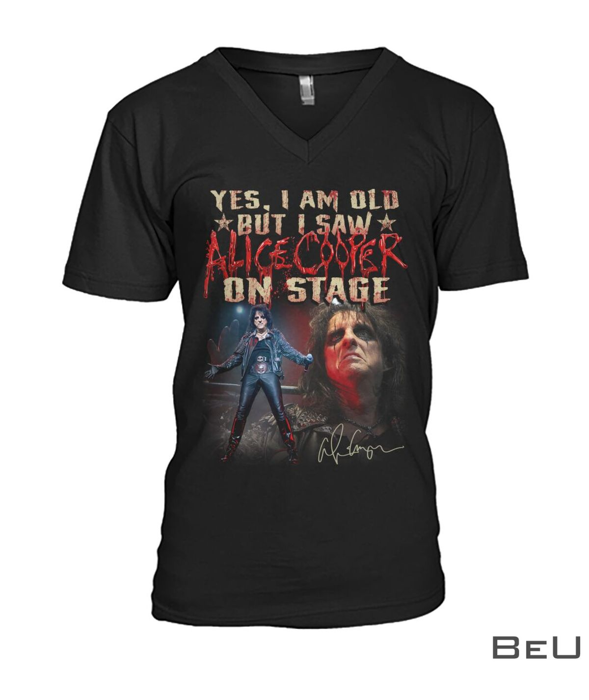 Yes I Am Old But I Saw Alice Cooper On Stage Shirtc