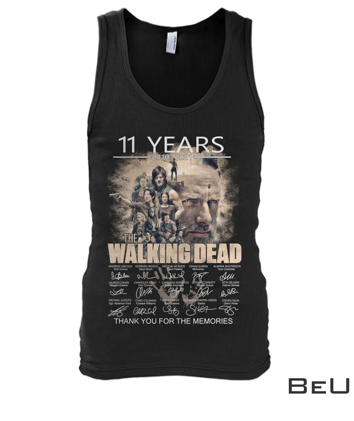 11 Years 2010 2021 The Walking Dead Thank You For The Memories Shirt x