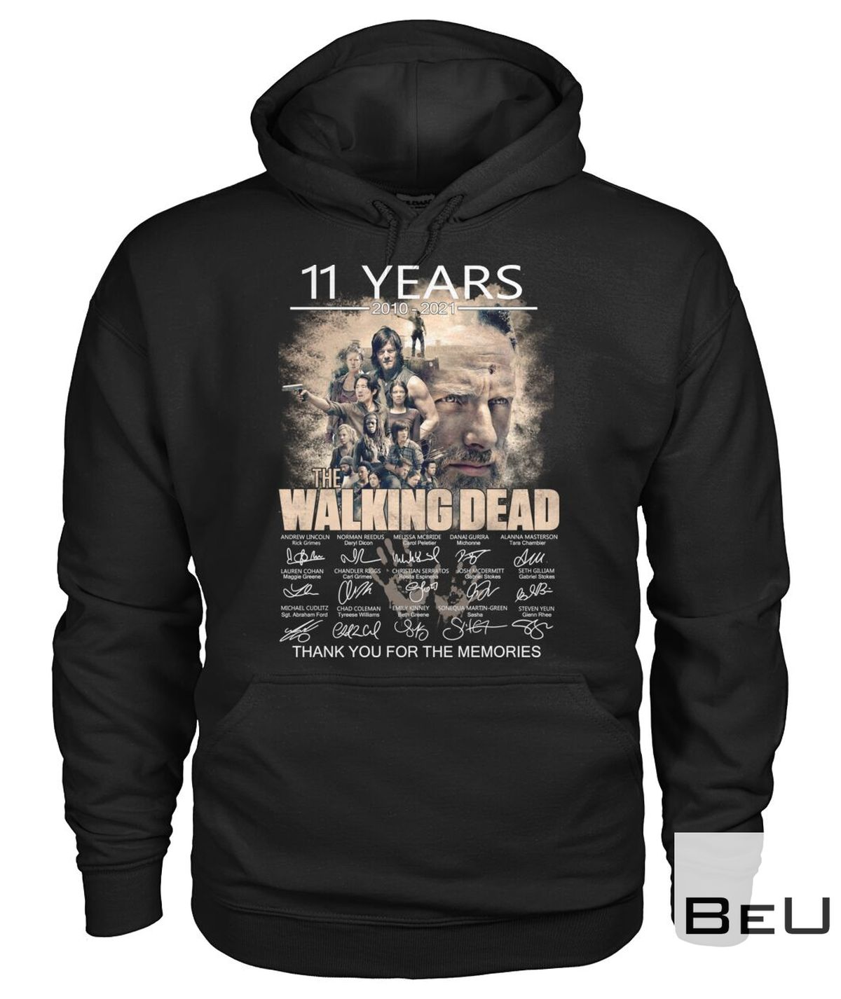 11 Years 2010 2021 The Walking Dead Thank You For The Memories Shirt z