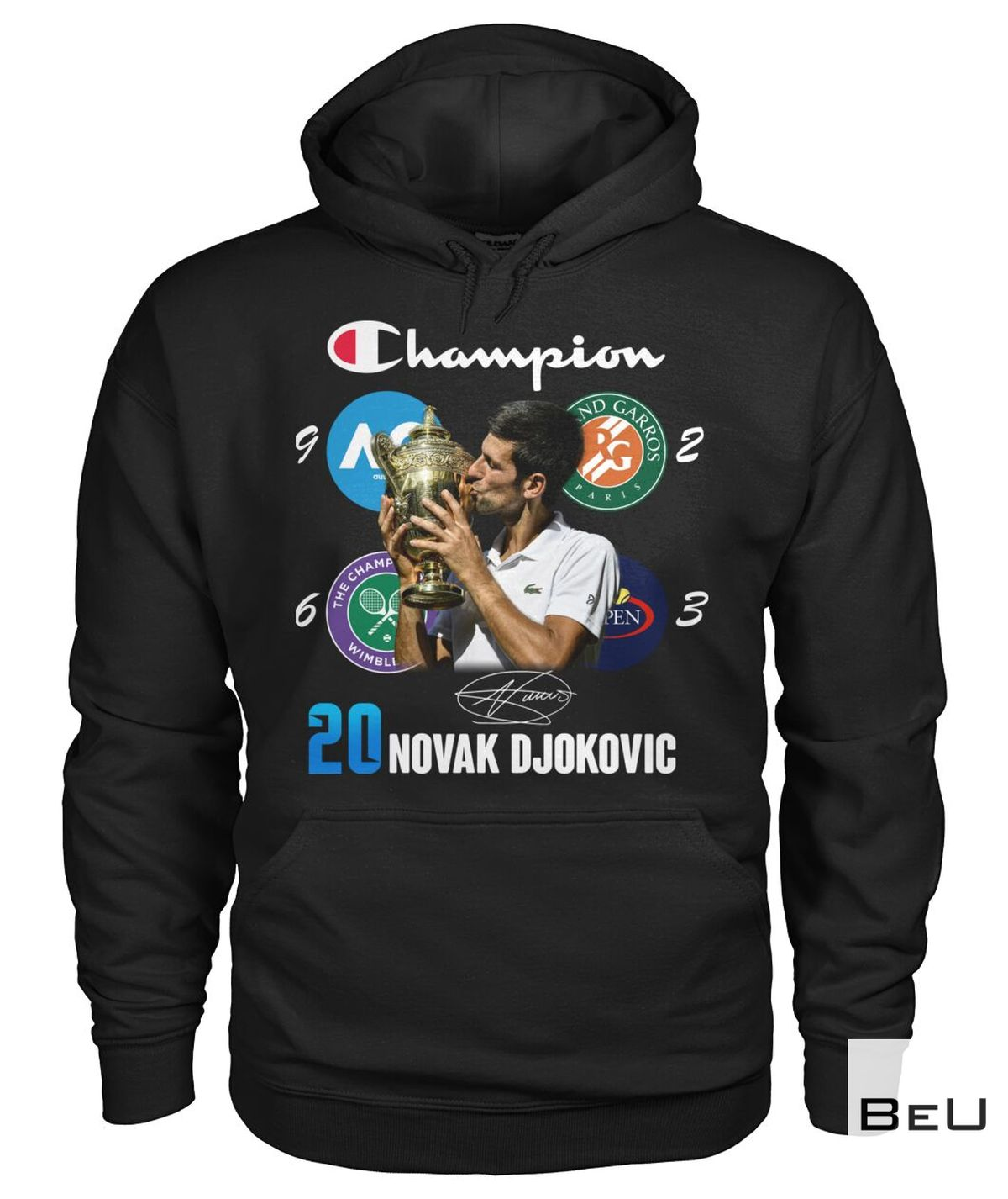 20 Novak Djokovic Champion Shirtz
