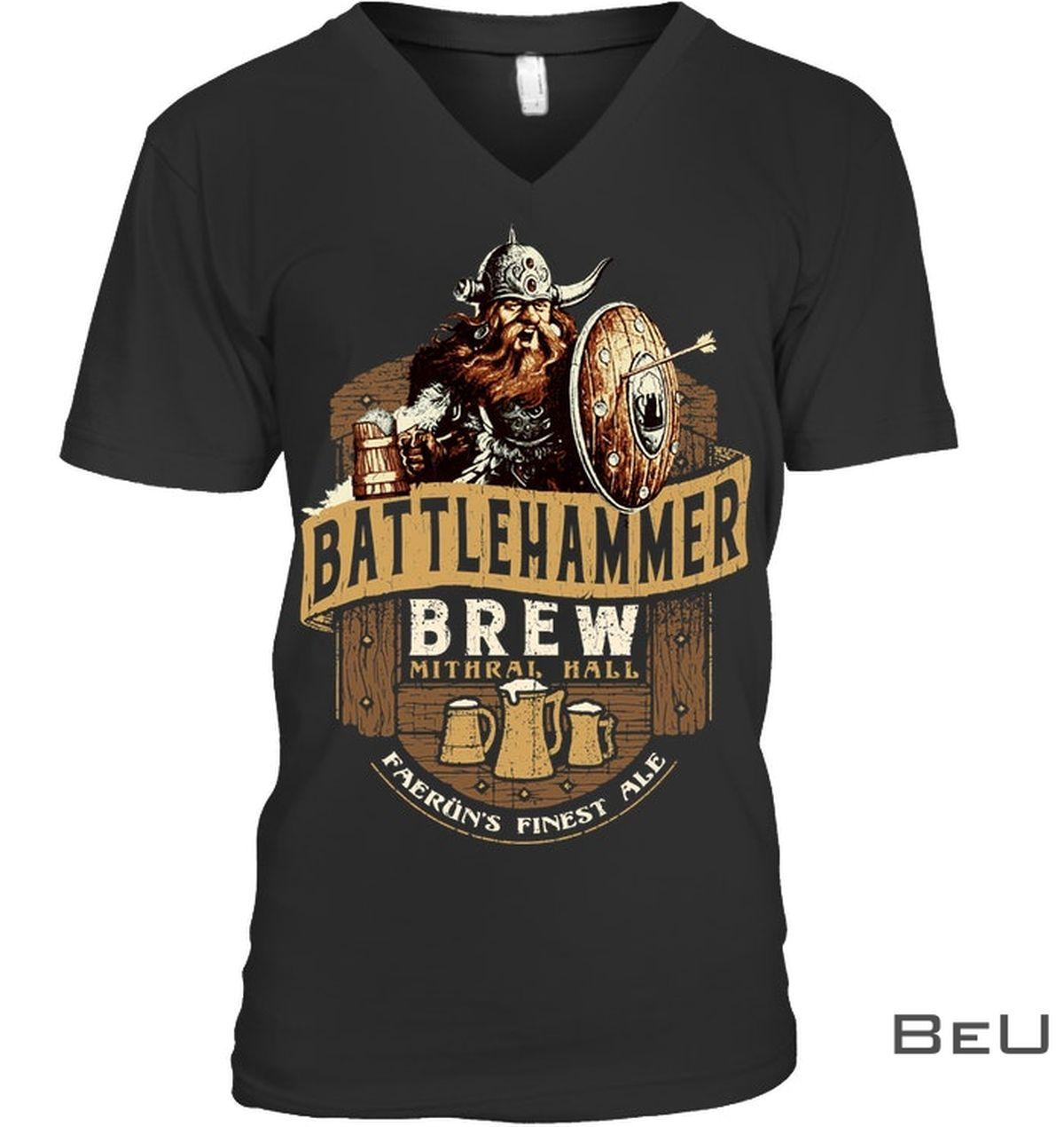 Battlehammer Brew Mithral Hall Faerun Finest Ale Shirtc