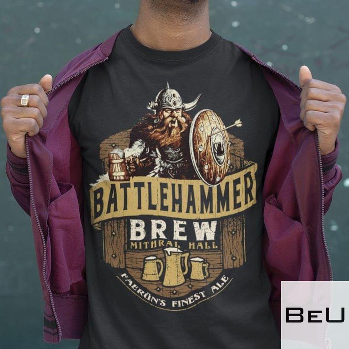 Battlehammer Brew Mithral Hall Faerun Finest Ale Shirtv