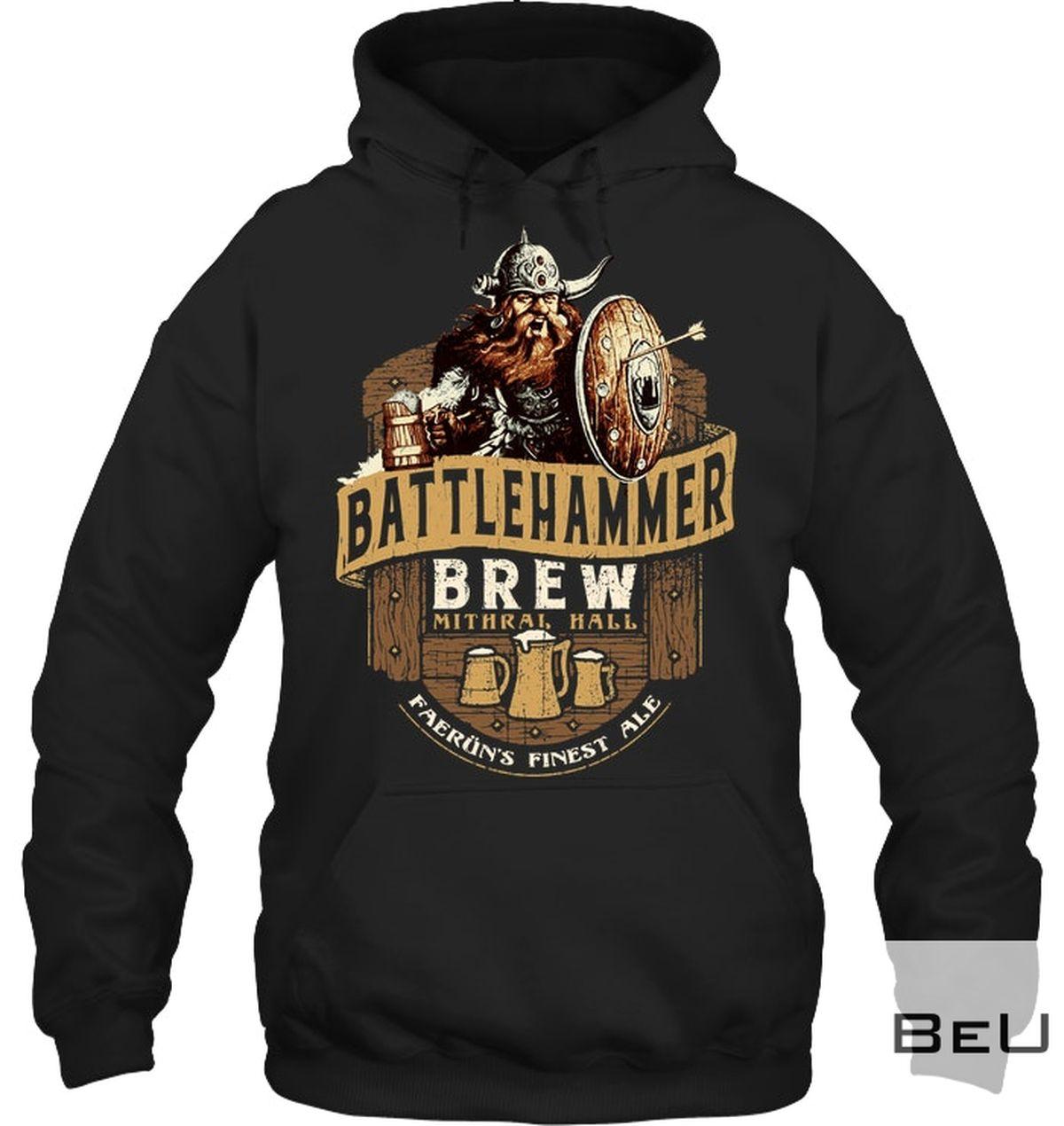 Battlehammer Brew Mithral Hall Faerun Finest Ale Shirtz