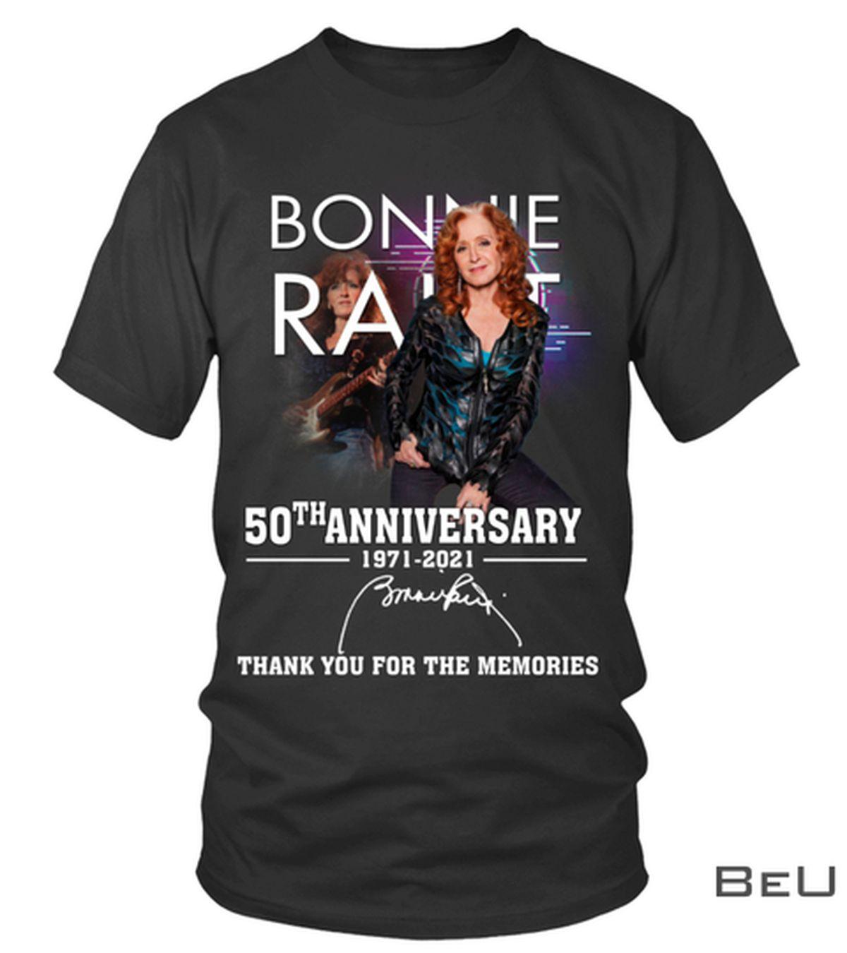 Bonnie Raitt 50th Anniversary 1971 2021 Thank You For The Memories Shirt