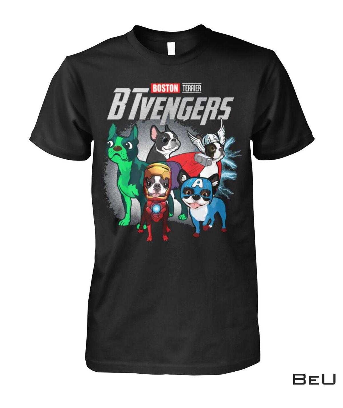 Boston Terrier BTvengers Avengers Shirt