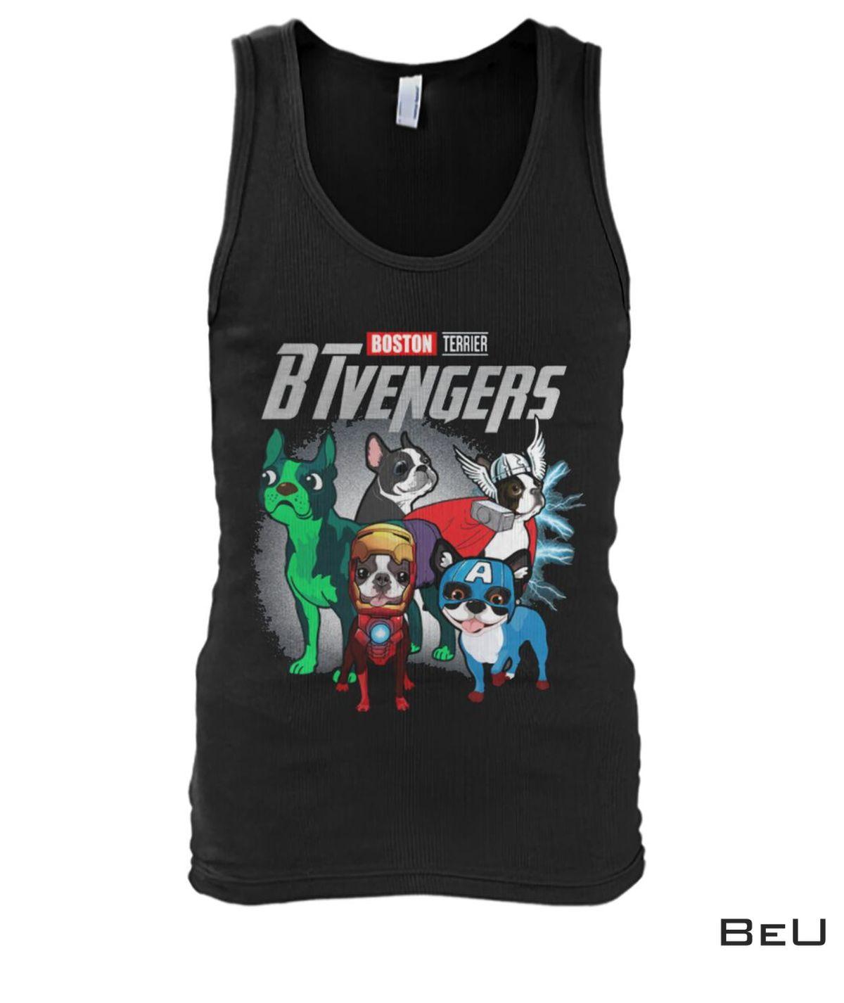Boston Terrier BTvengers Avengers Shirtx