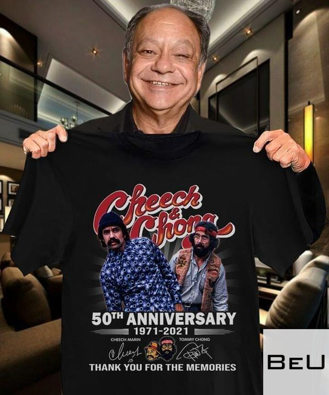 Cheech And Chong 50th Anniversary 1971 2021 Thank You For The Memories Shirt v