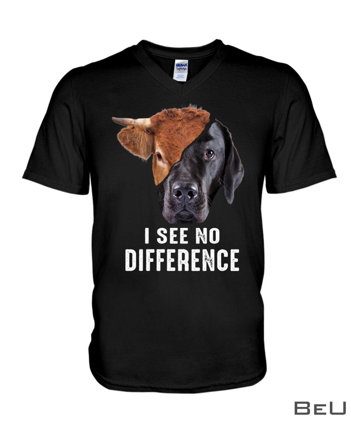 Cow Dog Face I See No Difference Shirtz