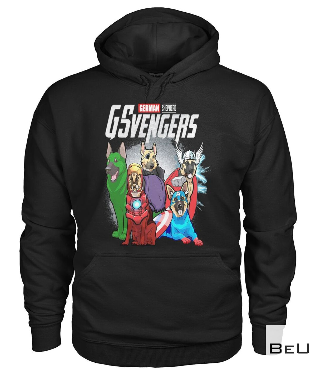 German Shepherd Gvengers Avengers Shirtz