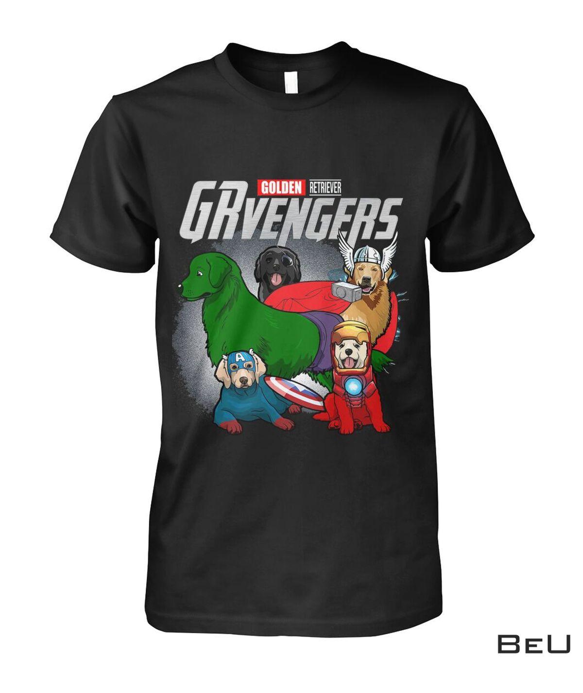 Golden Retriever GRvengers Avengers Shirt
