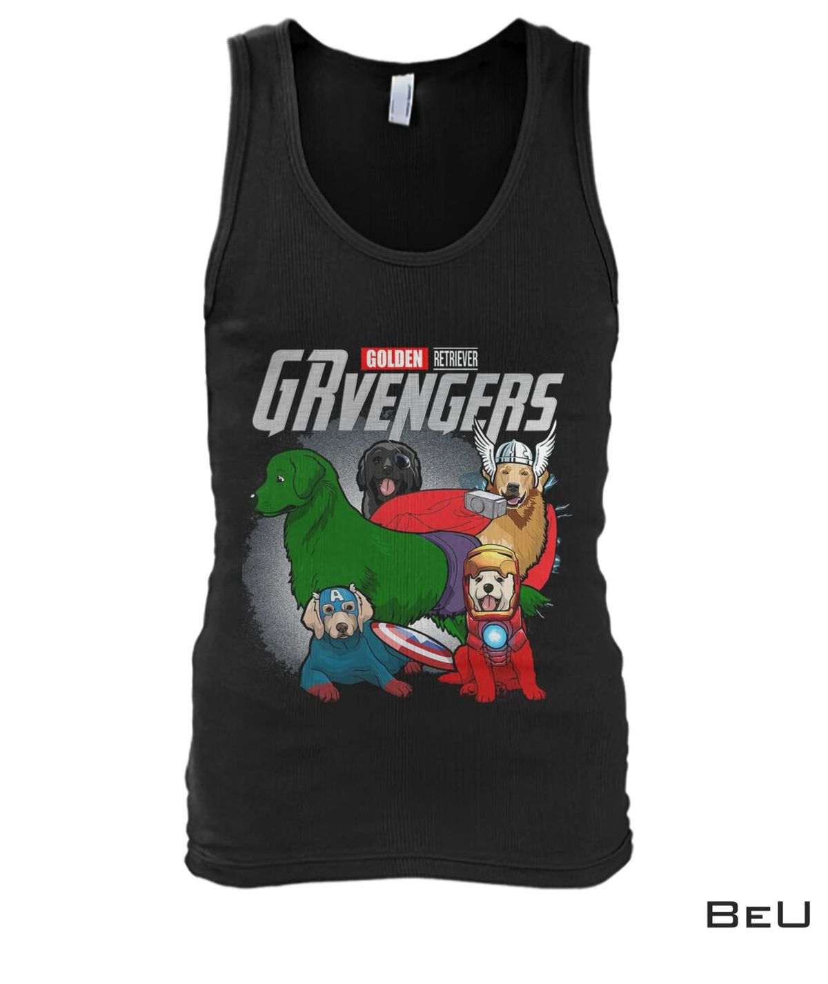 Golden Retriever GRvengers Avengers Shirtx