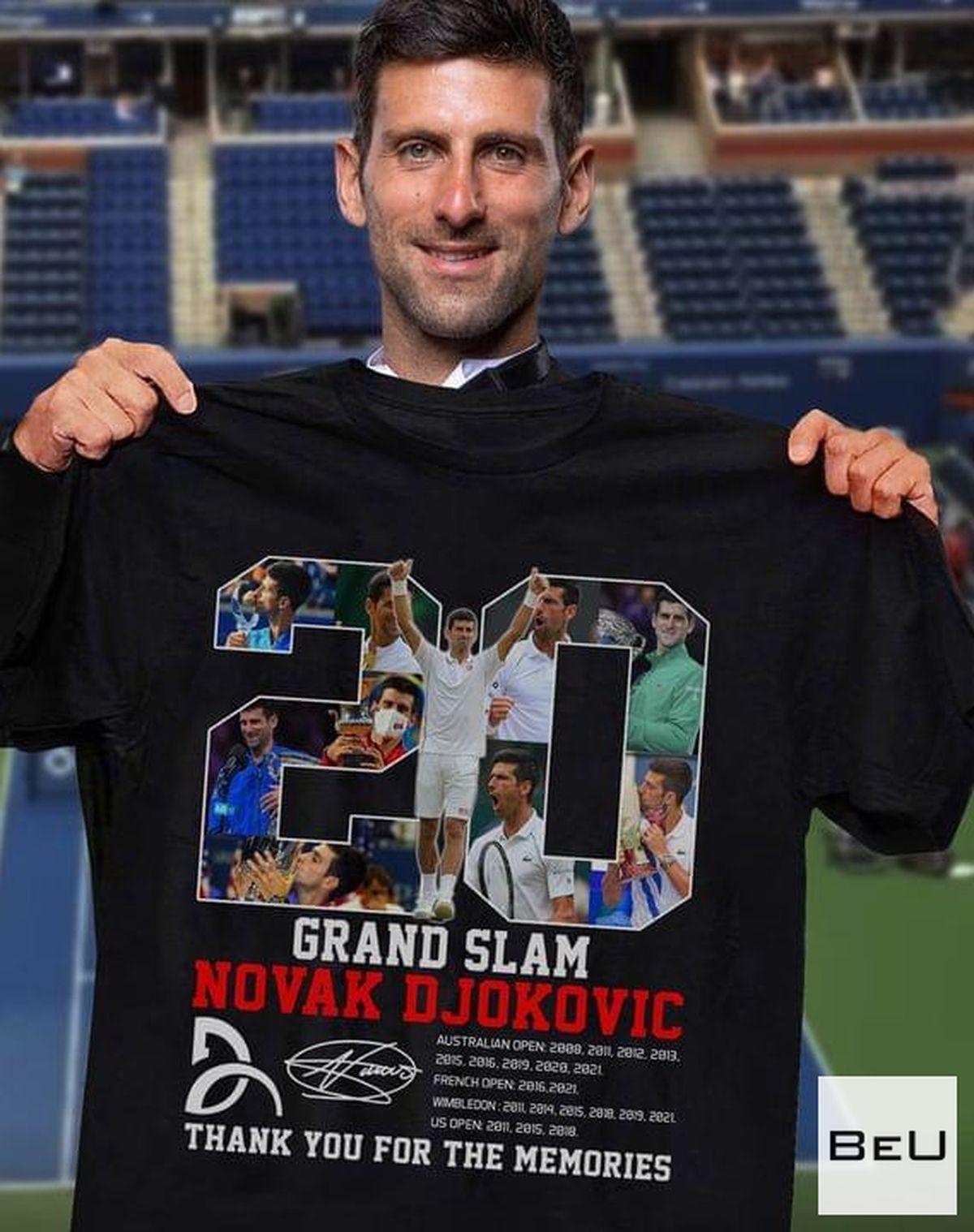 Grand Slam Novak Djokovic Thank You For The Memories Shirtv