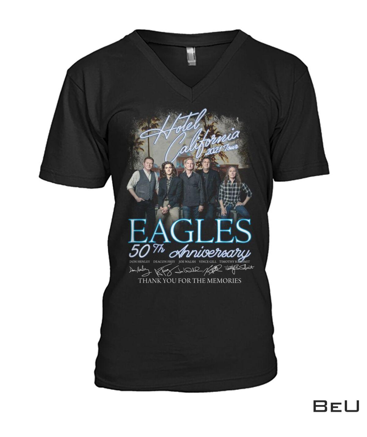 All Over Print Hotel California 2021 Tour Eagles 50th Anniversary Shirt, hoodie, tank top