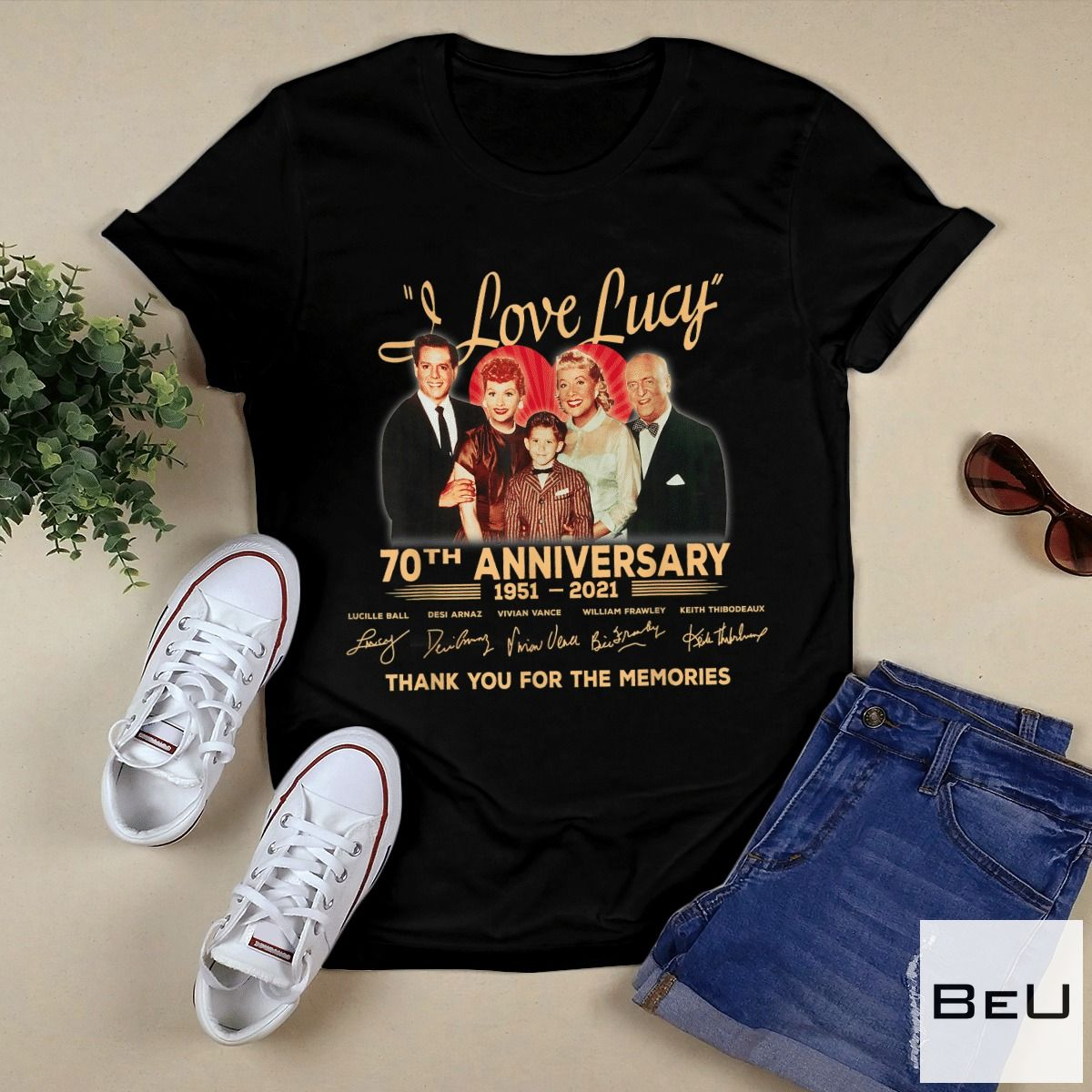 I-Love-Lucy-70th-Anniversary-Thank-You-For-The-Memories-Shirt