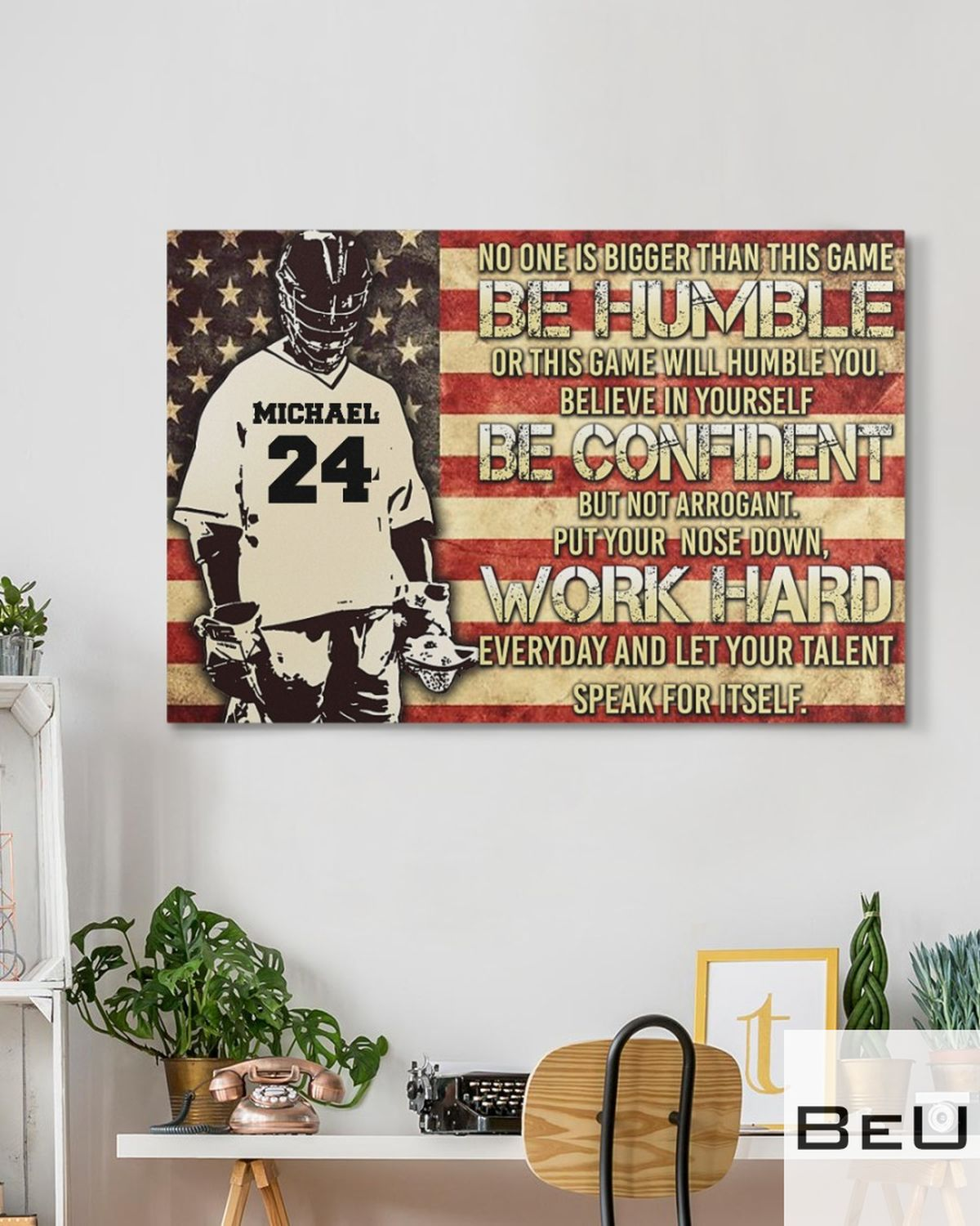 Personalized No One Is Bigger Than This Game Be Humble Or This Game Will Humble You Canvasz