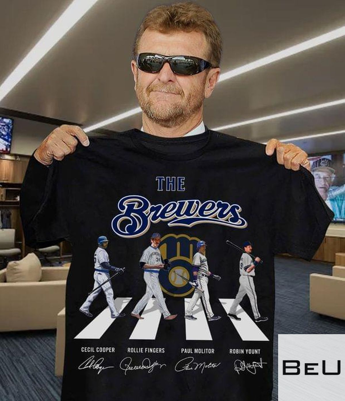 The Brewers Cecilcooper Rollie Fingers Paul Molitor Robin Yount Shirt v