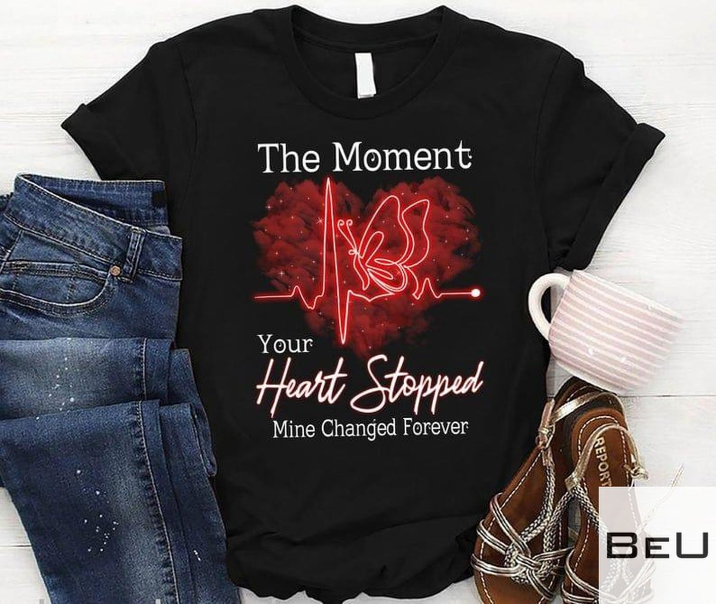 The Moment Your Heart Stopped Mine Changed Forever Shirt v