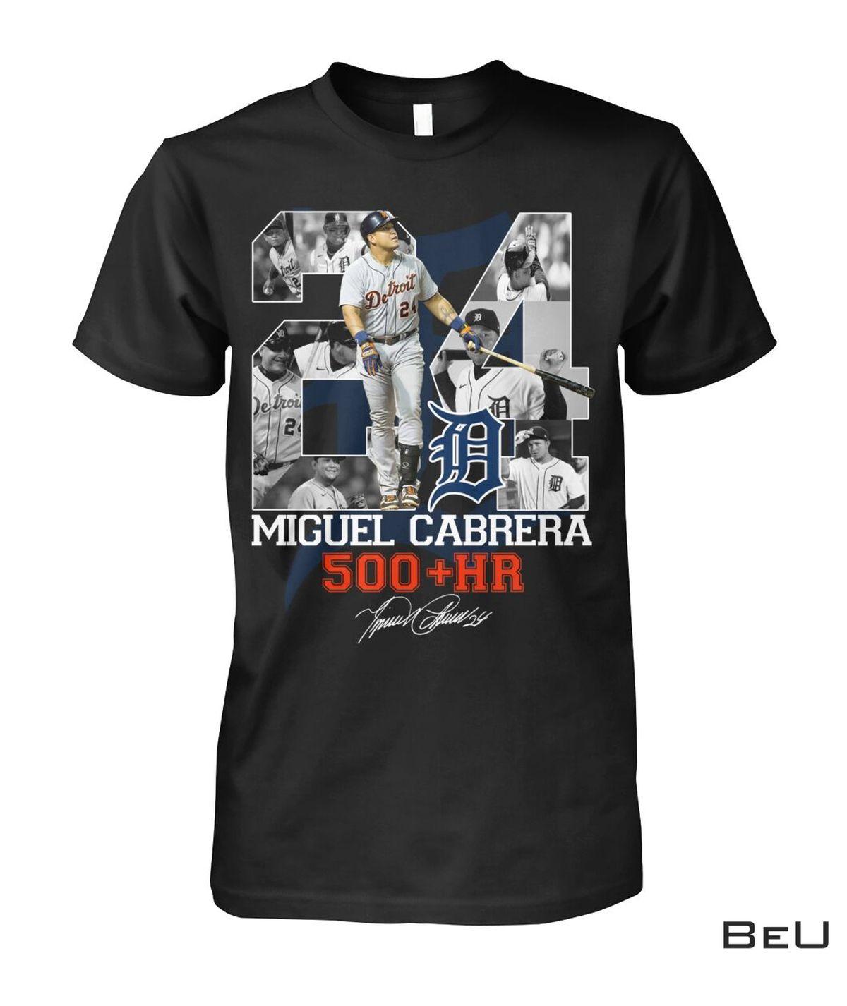 01 Miguel Cabrera 500+ Hr Shirt