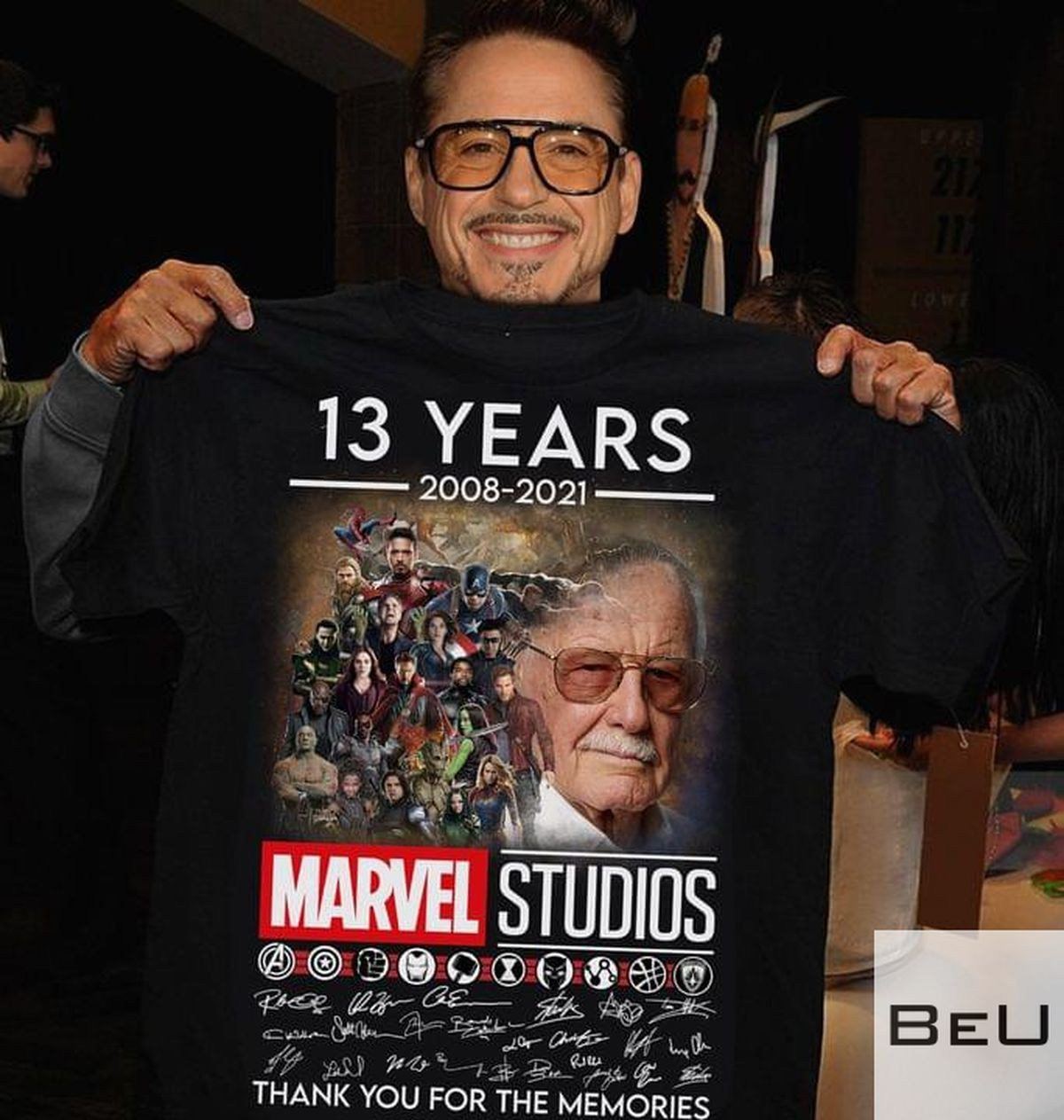 13 Years 2008 2021 Marvel Studios Thank You For The Memories Shirtv