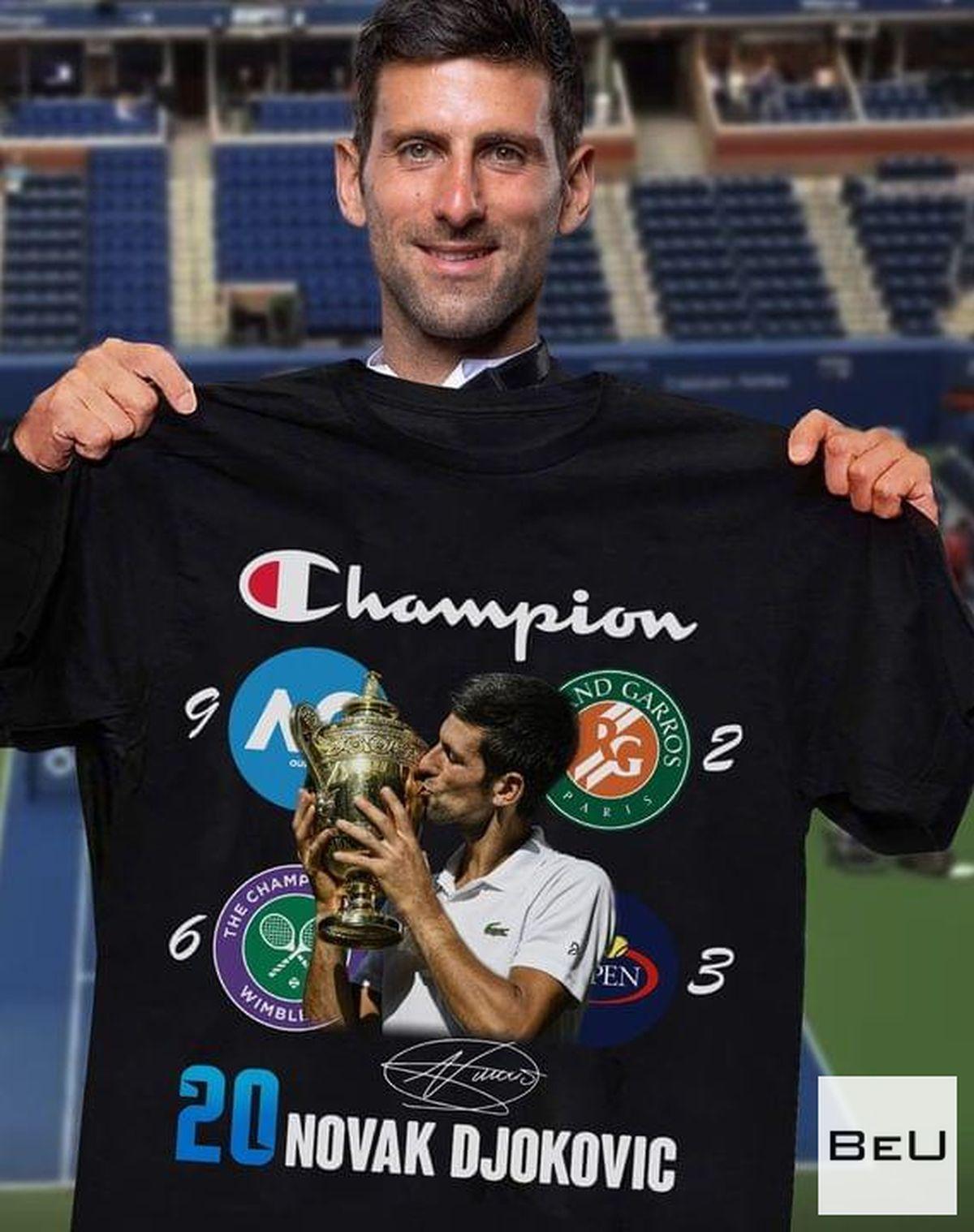 20 Novak Djokovic Champion Shirtv