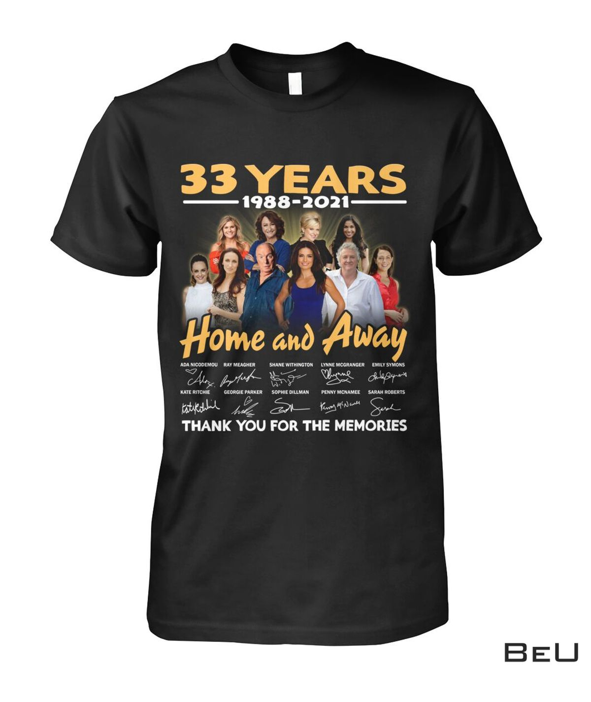 Only For Fan 33 Years Home And Away Thank You For The Memories Shirt, hoodie, tank top