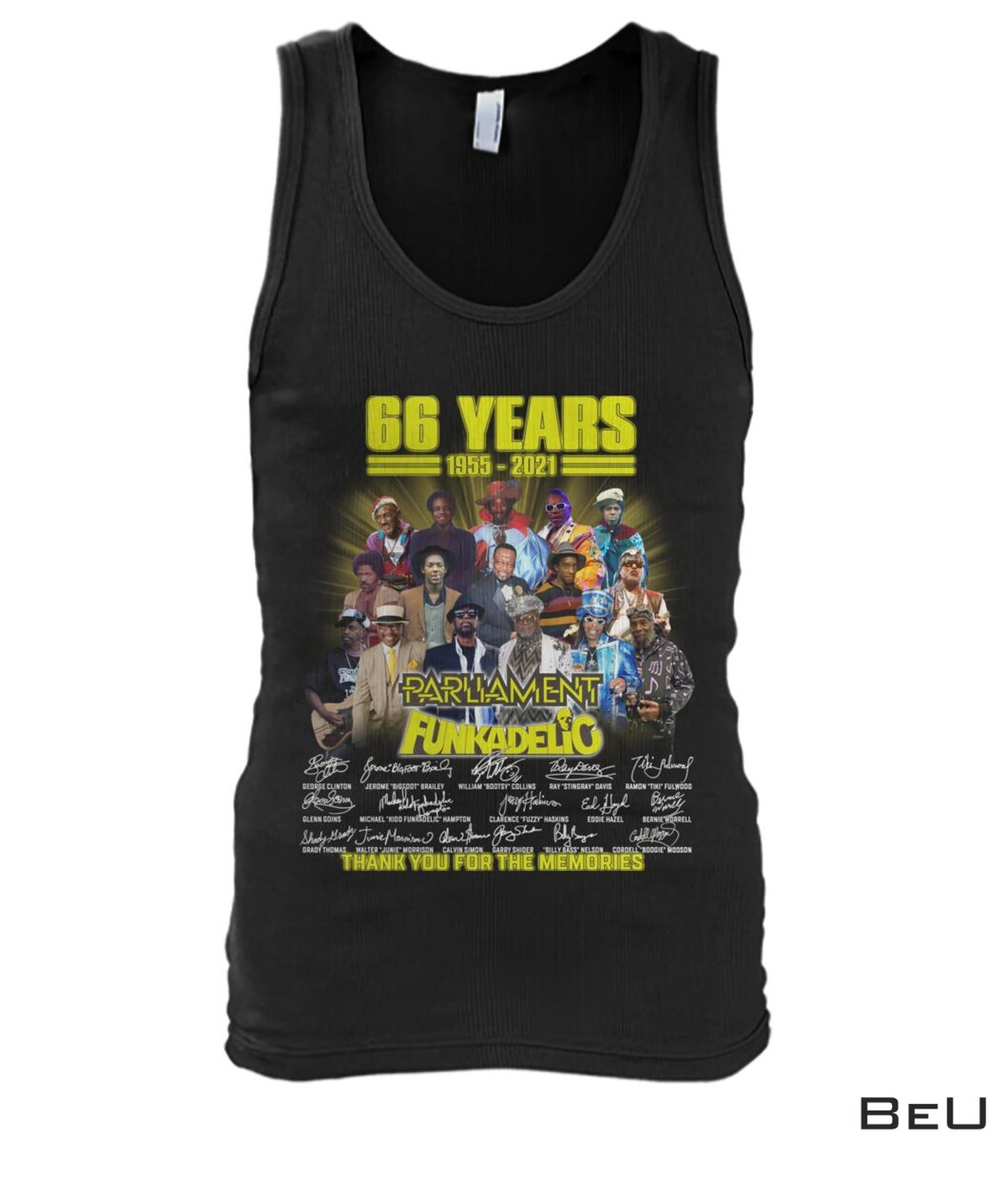 Awesome 66 Years Parliament Funkadelic Thank You Shirt, hoodie, tank top