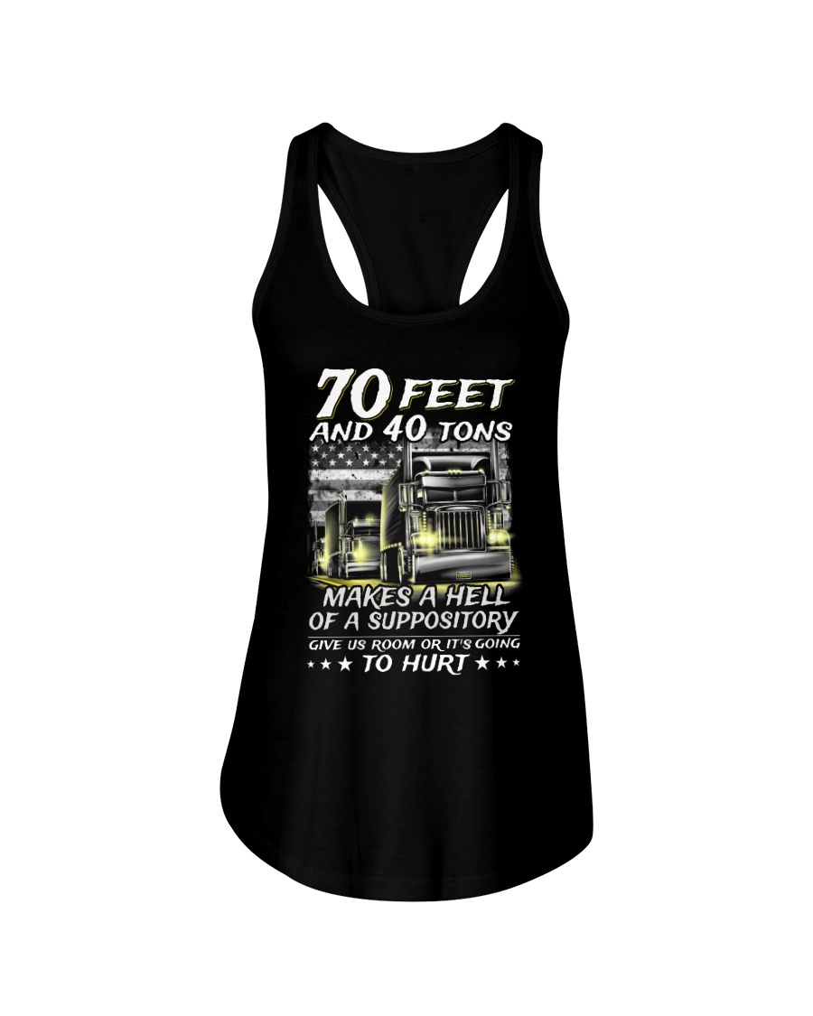 70 Feet and 40 tons makes a hell of a suppository tank top