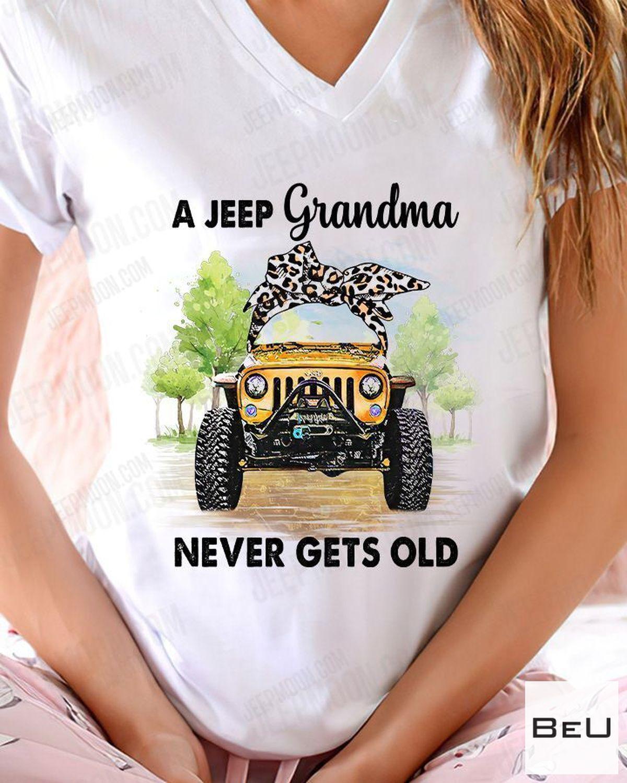 POD A Jeep Grandma Never Get Old Shirt, hoodie, tank top