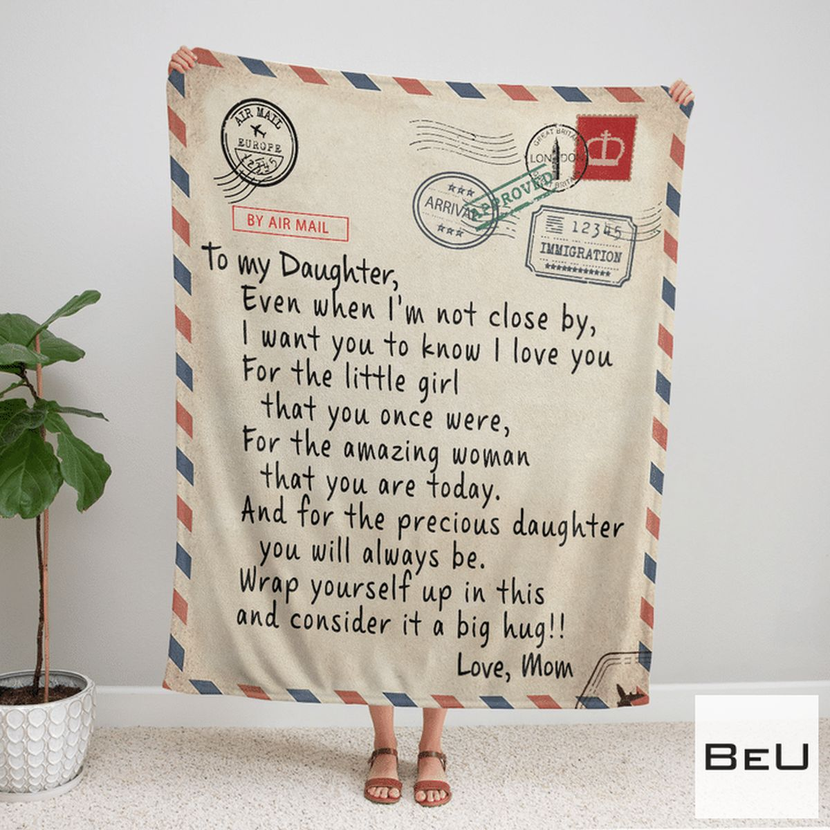 Adorable Airmail From Mom To My Daughter Blanket