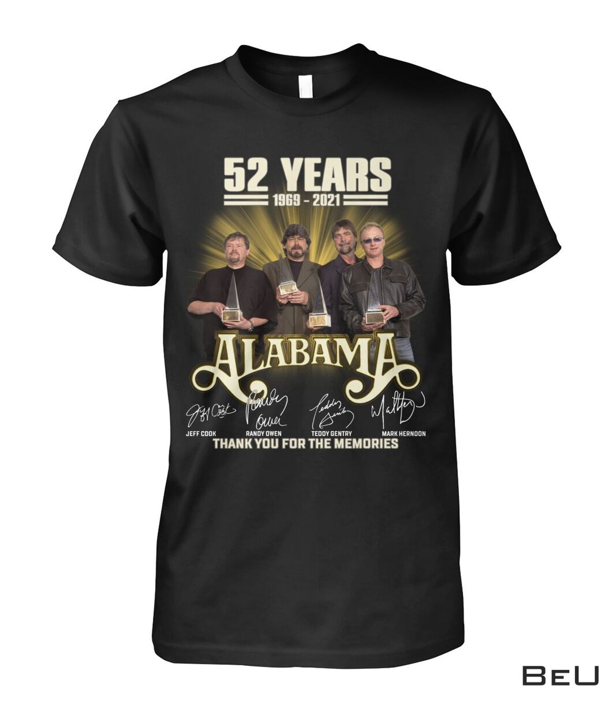 Hot Deal Alabama 52 Years Thank You For The Memories Shirt, hoodie, tank top