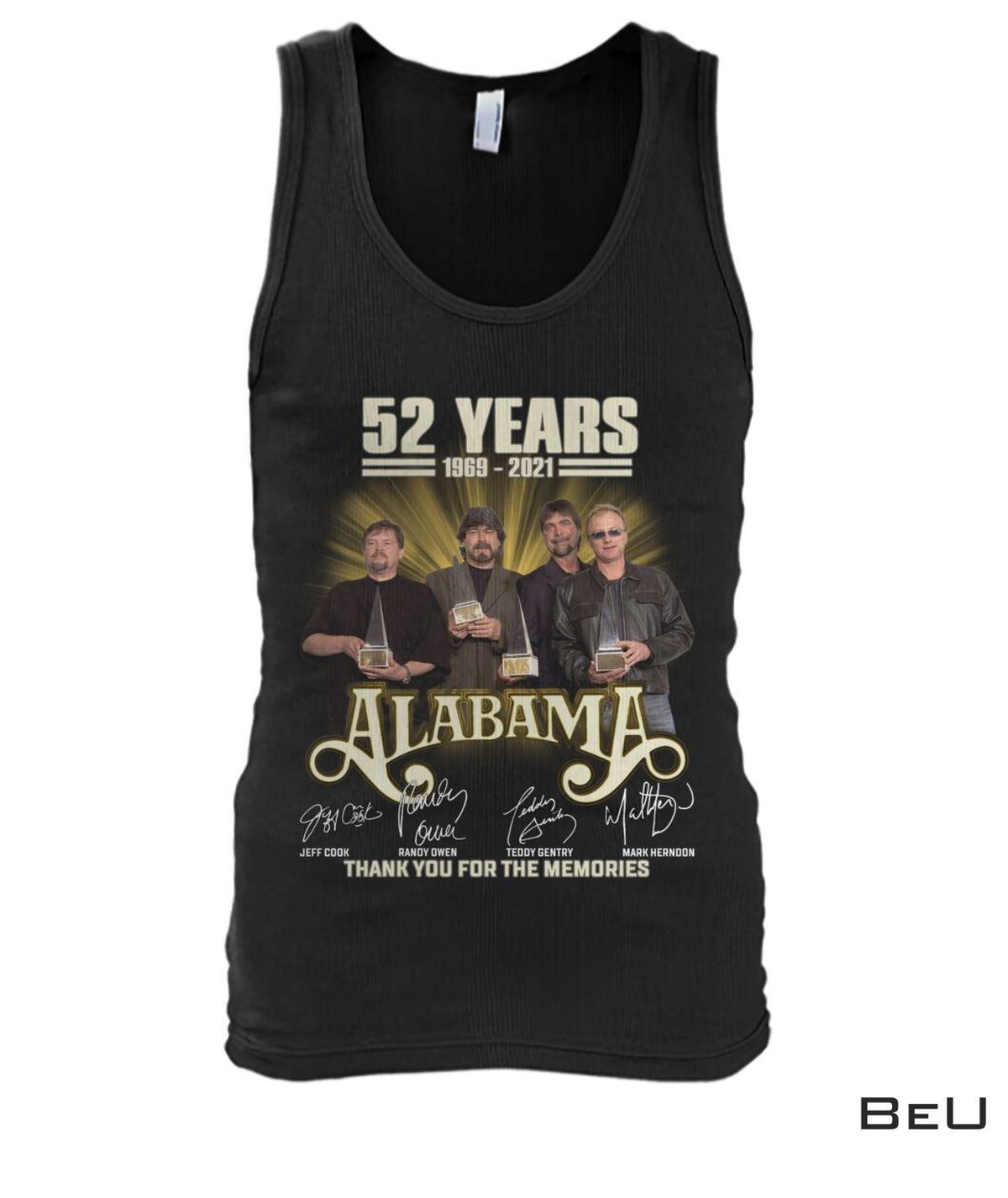 eBay Alabama 52 Years Thank You For The Memories Shirt, hoodie, tank top