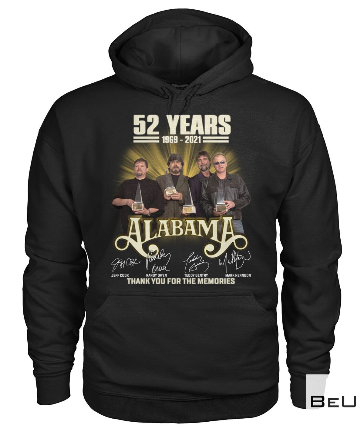 Review Alabama 52 Years Thank You For The Memories Shirt, hoodie, tank top