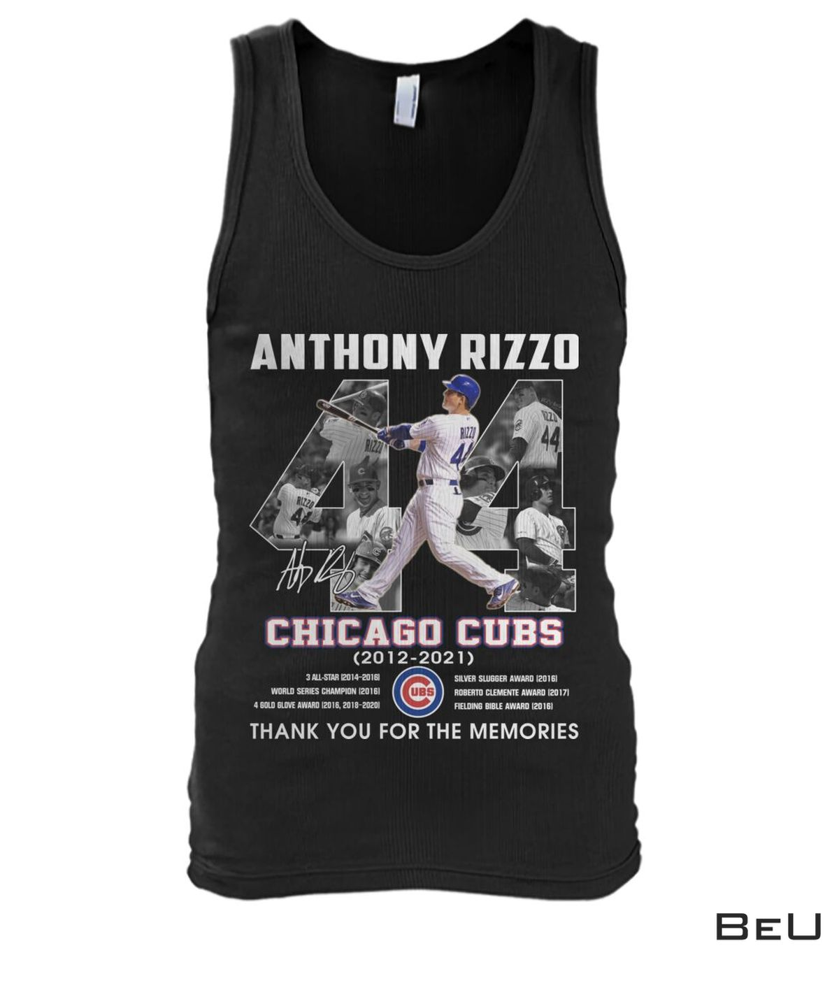 New Anthony Rizzo 44 Years Chicago Cubs Thank You Shirt, hoodie, tank top