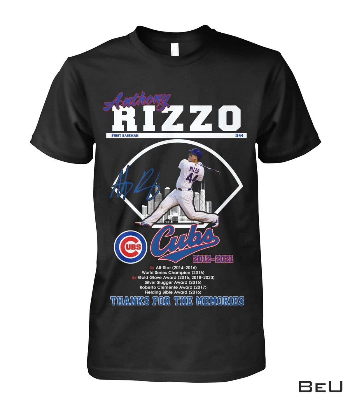 Limited Edition Anthony Rizzo First Base Cubs 2012 2021 Thank You Shirt, hoodie, tank top