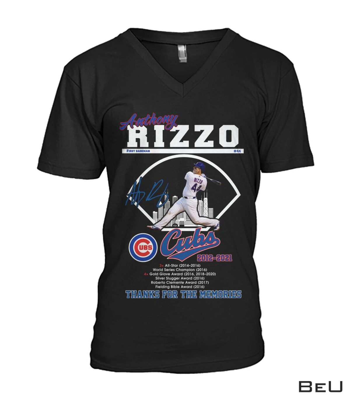Only For Fan Anthony Rizzo First Base Cubs 2012 2021 Thank You Shirt, hoodie, tank top
