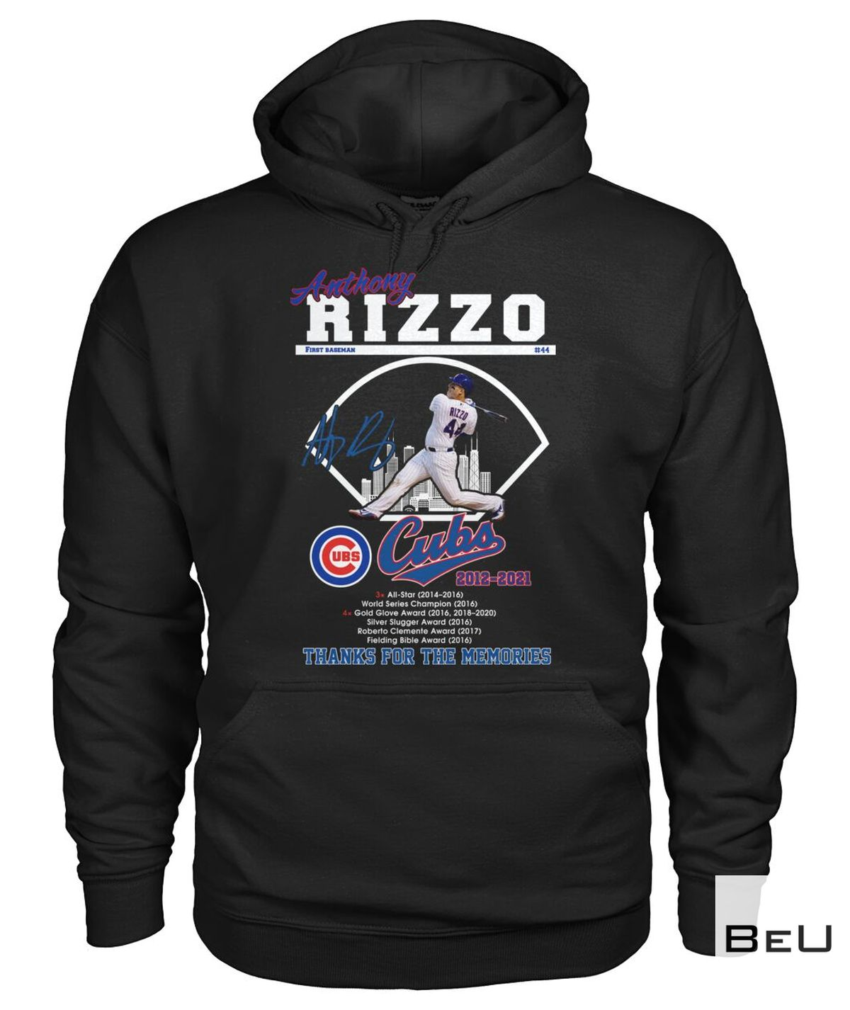 Hot Deal Anthony Rizzo First Base Cubs 2012 2021 Thank You Shirt, hoodie, tank top