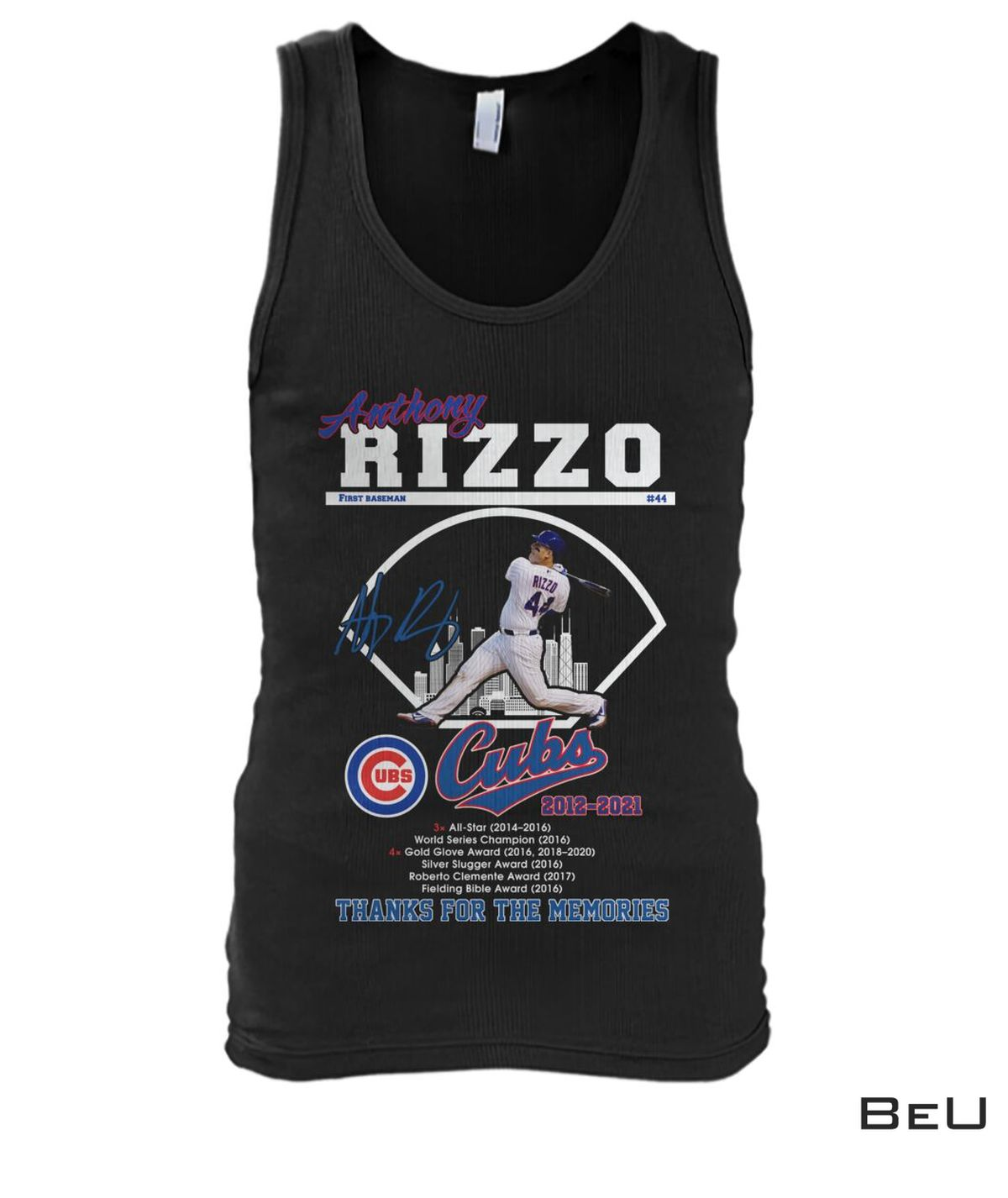 Anthony Rizzo First Baseman Chicago Cubs Thank You Shirtc