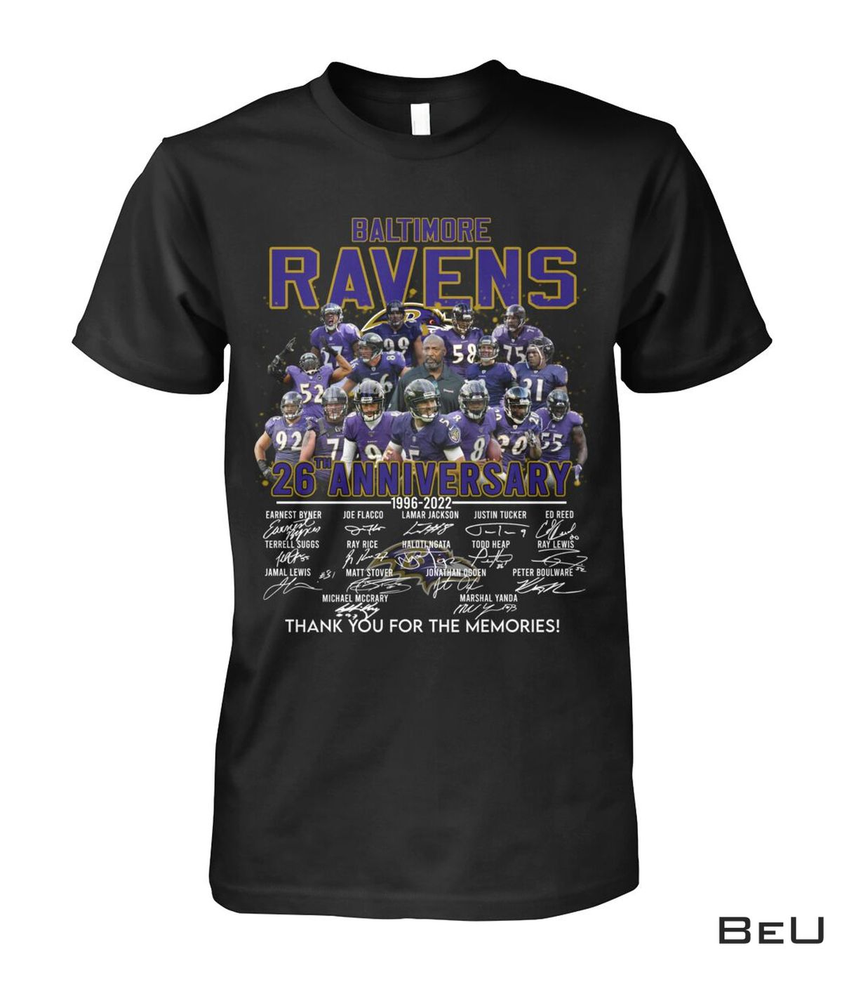 Baltimore Ravens 26th Anniversary 1996 2022 Shirt