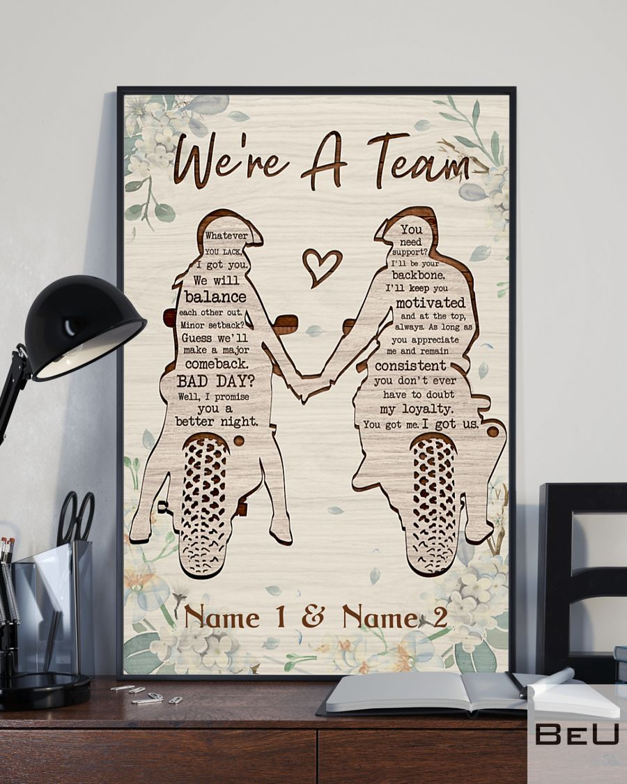 Biker We're A Team Personalized Poster2_result