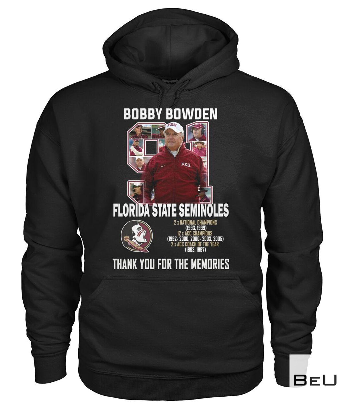 Great artwork! Bobby Bowden Florida State Seminoles Thank You Shirt, hoodie, tank top