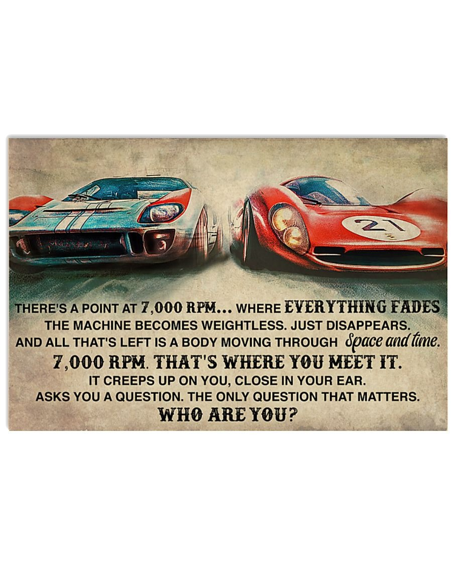 Car Racing There's A Point At 7000 RPM Where Everything Fades Poster