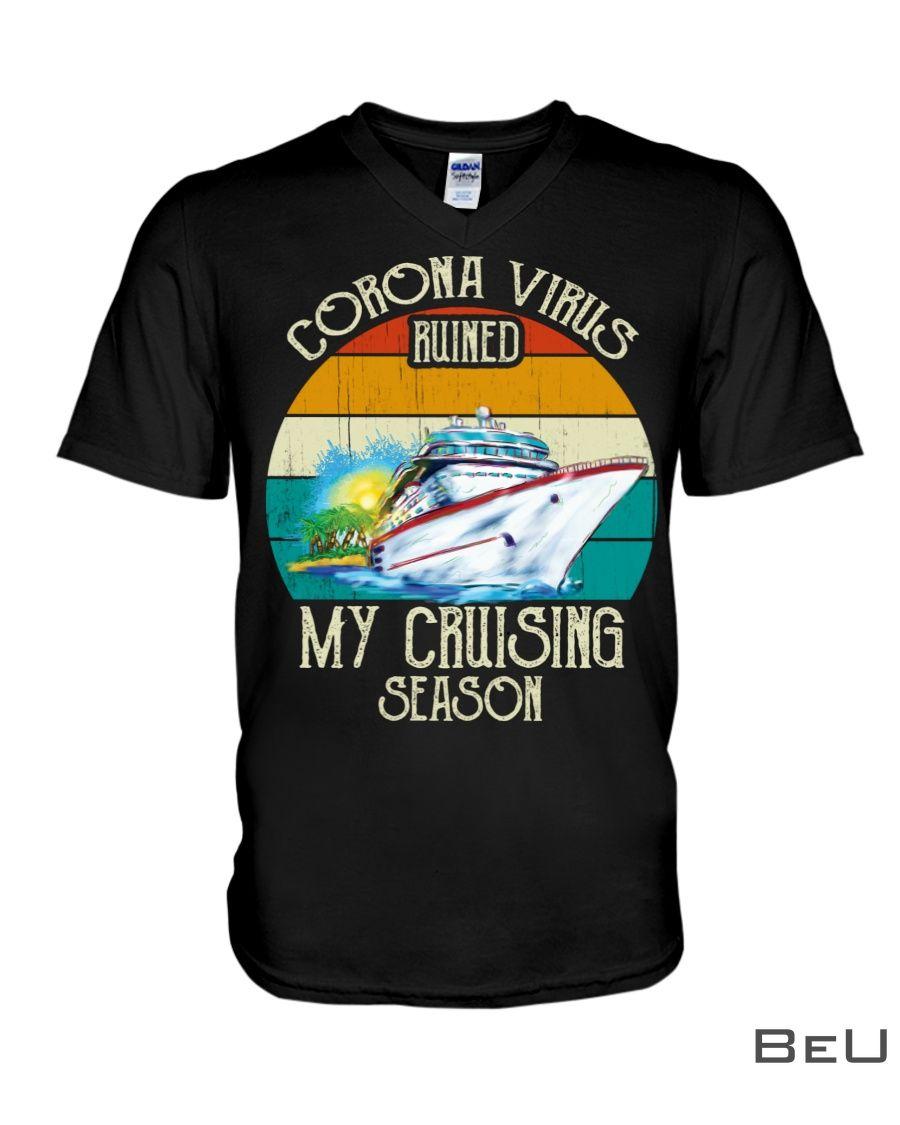 Corona virus ruined my cruising season v - neck_result
