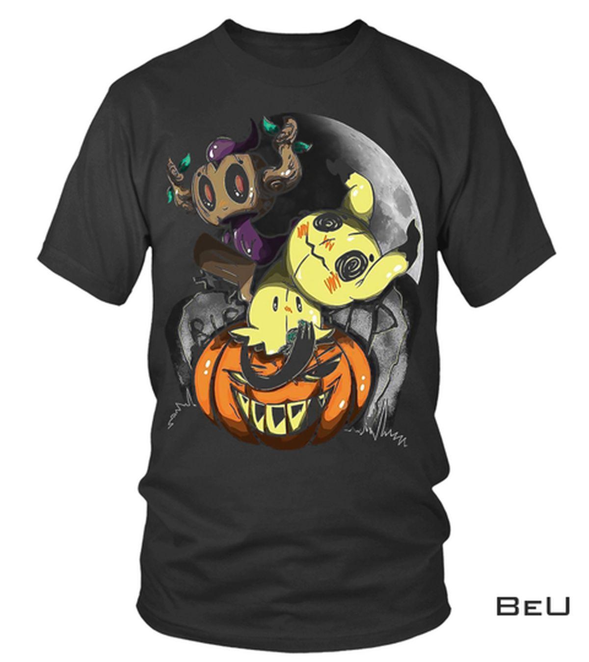 Best Creepy Pikachu Pumpkin Halloween Shirt, hoodie, tank top