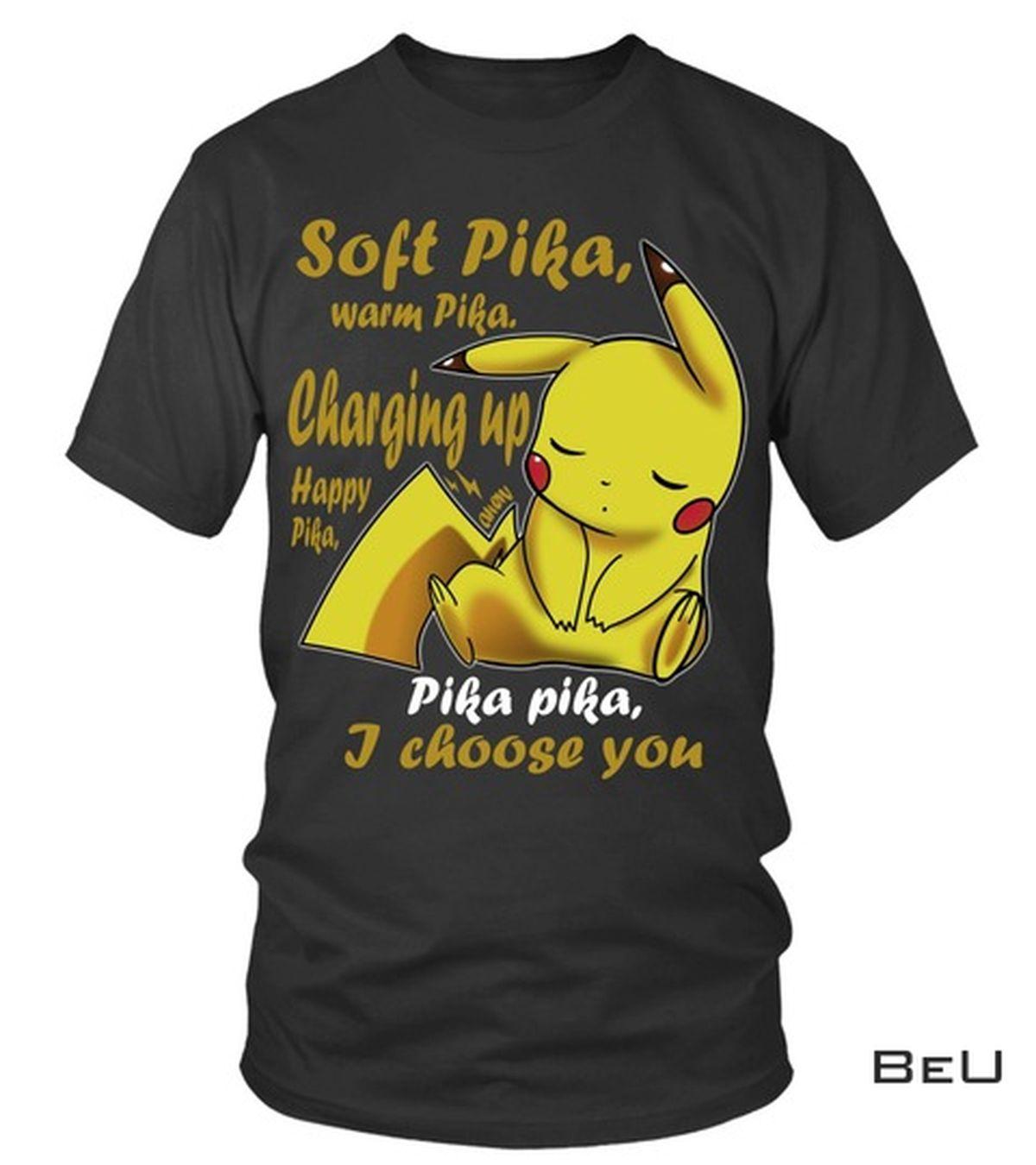 Pokemon Pikachu Soft Pika Warm Pika Shirt