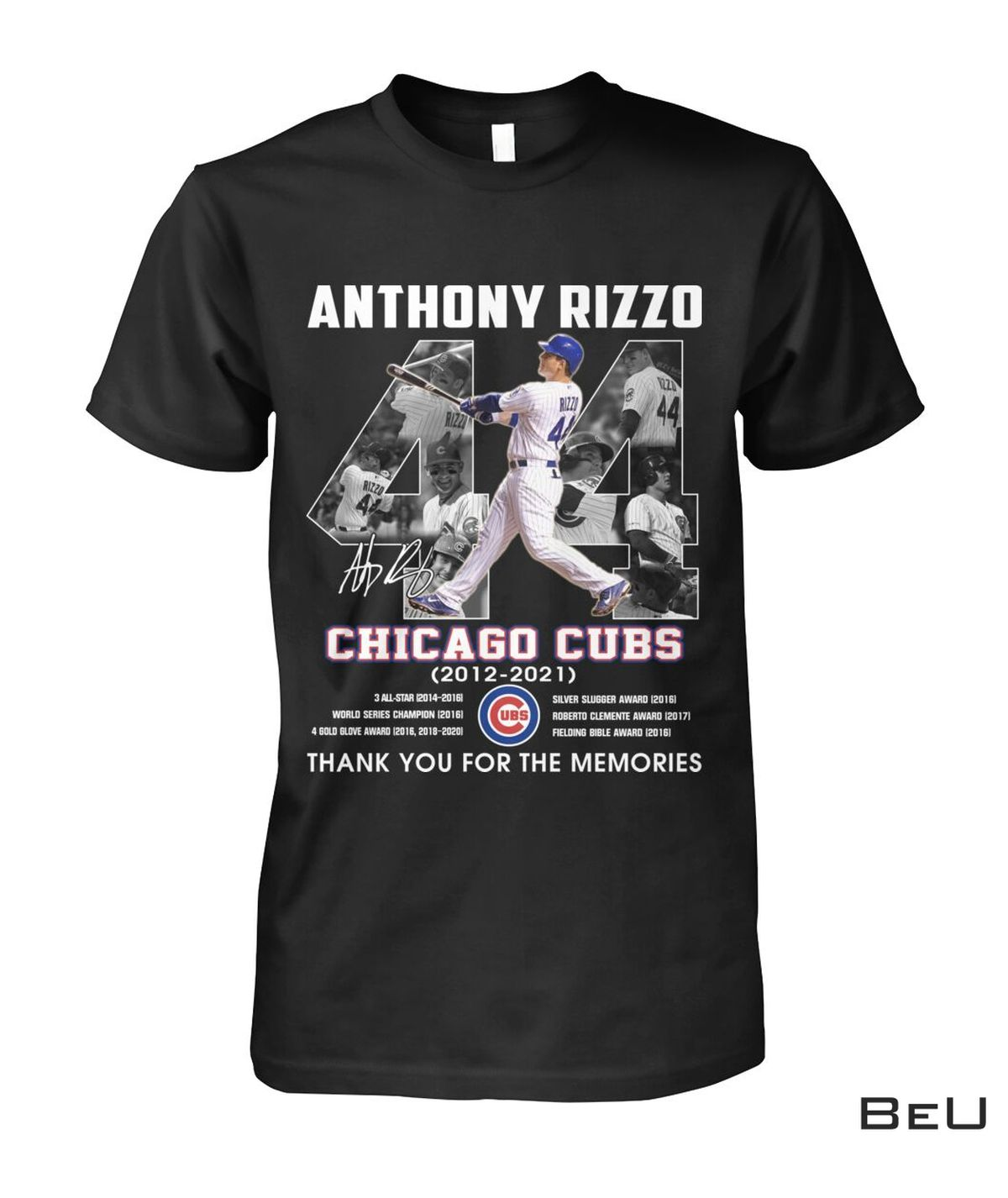 Anthony Rizzo 44 Years Chicago Cubs Thank You Shirt, hoodie, tank top